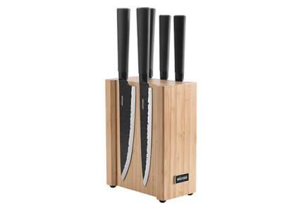Набор из 5 кухонных ножей на магнитном блоке, NADOBA, HORTA