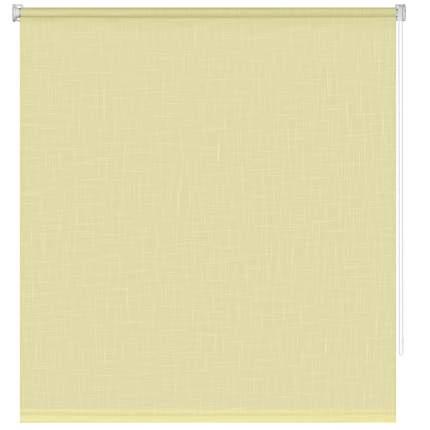 Рулонная штора Decofest Миниролл Шантунг Лимонный 50x160 160x50 см