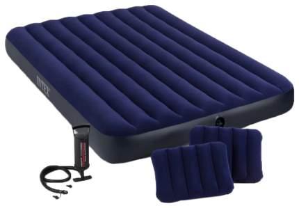 Матрас-кровать CLASSIC DOWNY 152х203х22см 2 подушки 43х28х9см, насос 68612