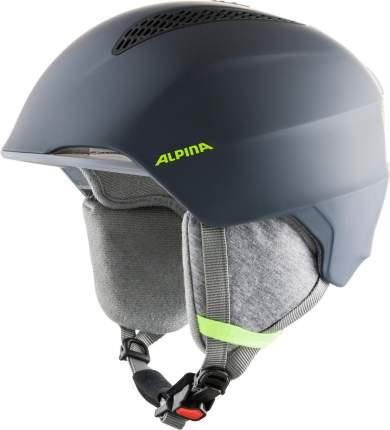 Горнолыжный шлем Alpina Grand Jr 2021, charcoal/neon yellow, S/M