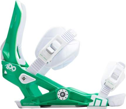 Крепление для сноуборда Now Ipo 2019, белое/зеленое, S