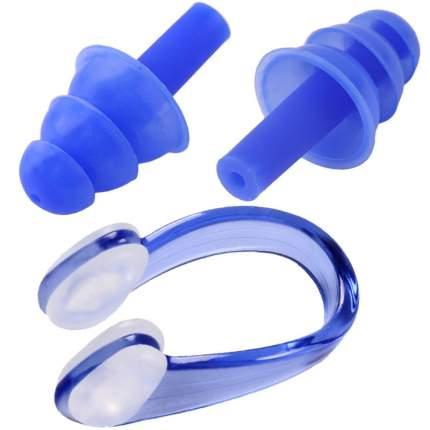 C33423-1 Комплект для плавания беруши и зажим для носа (синие)