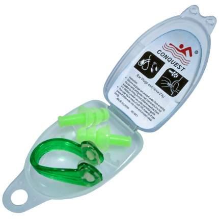 C33553-3 Комплект для плавания беруши и зажим для носа (зеленые)