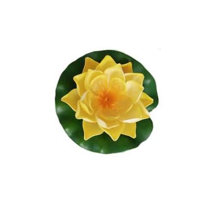 Садовая фигурка Heissner 001123-00 Кувшинка 10 см желтая