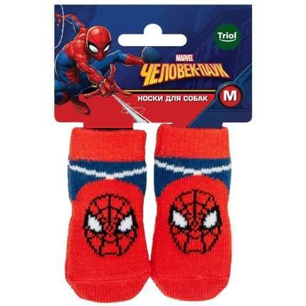Носки для собак Triol Marvel Человек-паук, размер M, 4 шт