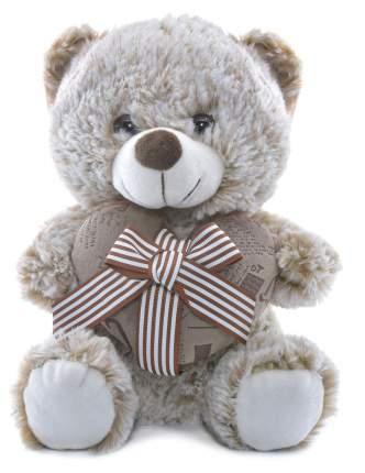 Мягкая игрушка Мишка с сердцем Бантик CoolToys IM1618-25BROWN