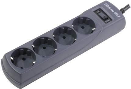 Сетевой фильтр Pilot m-MAX 1.8м (4 розетки), Black
