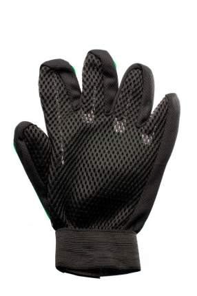 Перчатка-щетка для вычесывания шерсти домашних животных Verona, зеленая
