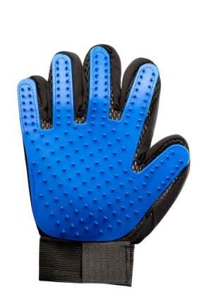 Перчатка-щетка для вычесывания шерсти домашних животных Verona, синяя
