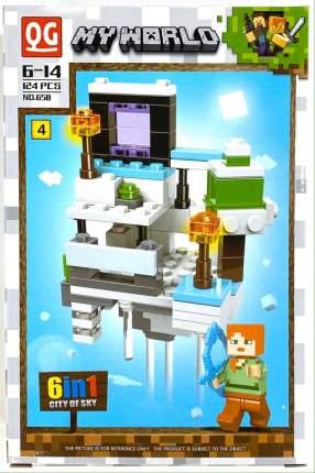 Конструктор QG Minecraft Воздушный биом, 124 детали