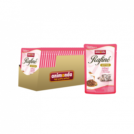 Влажный корм для кошек Animonda, домашняя птица, креветки, 24шт, 100г