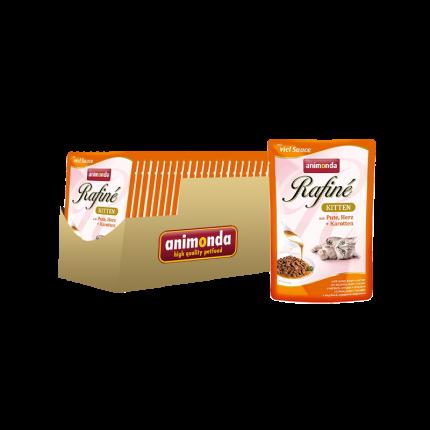 Влажный корм для кошек Animonda Rafin Soupe, индейка, овощи, сердце, 24шт, 100г