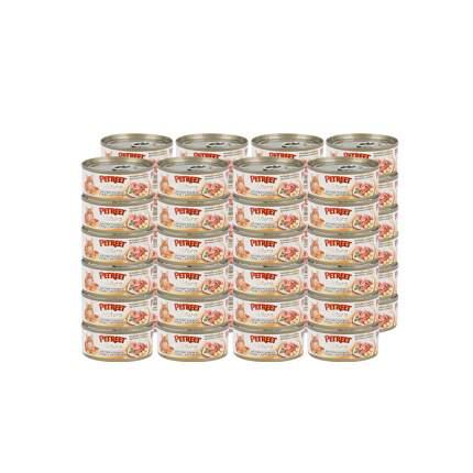 Влажный корм для кошек Petreet, тунец, картофель, 48шт, 70г