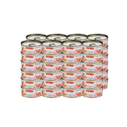 Влажный корм для кошек Petreet, тунец, 48шт, 70г