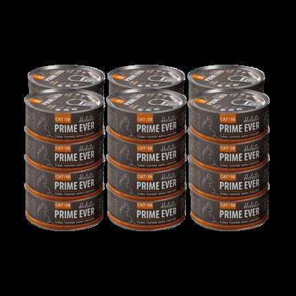 Влажный корм для кошек Prime Ever, тунец, цыпленок, 24шт, 80г