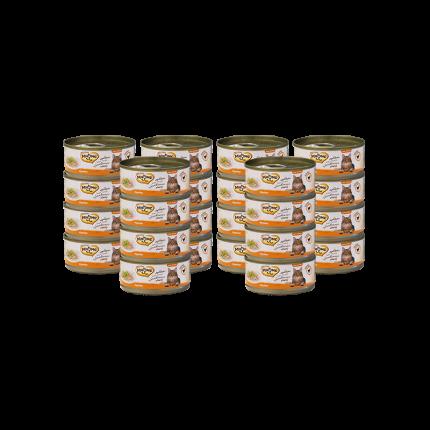 Влажный корм для кошек Мнямс, курица, 24шт, 70г