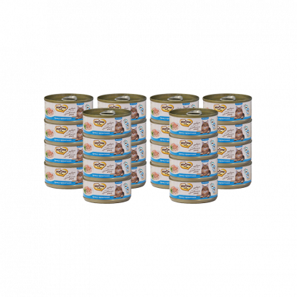 Влажный корм для кошек Мнямс, тунец, креветки 24шт, 70г