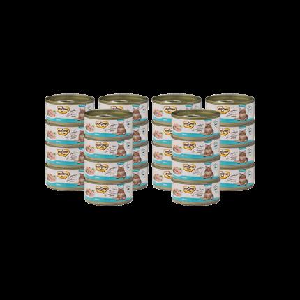 Влажный корм для кошек Мнямс, тунец, 24шт, 70г