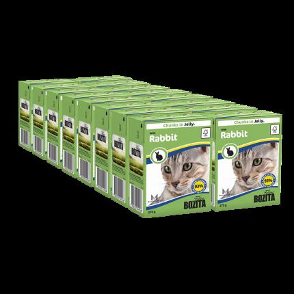 Влажный корм для кошек BOZITA, кролик, 16шт, 370г