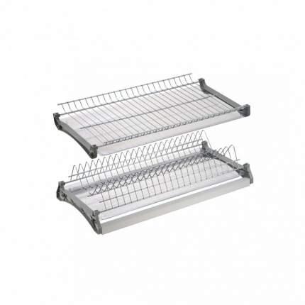 Сушка для посуды двухуровневая в шкаф 800 мм алюминий, VAR 800
