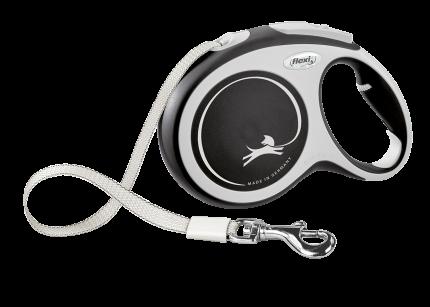 Поводок-рулетка Flexi New Comfort tape L 8m 50kg black