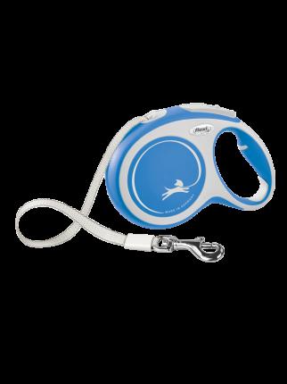 Поводок-рулетка Flexi New Comfort tape L 8m 50kg синий