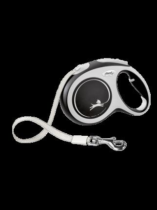 Поводок-рулетка Flexi New Comfort tape L 5m 60kg black