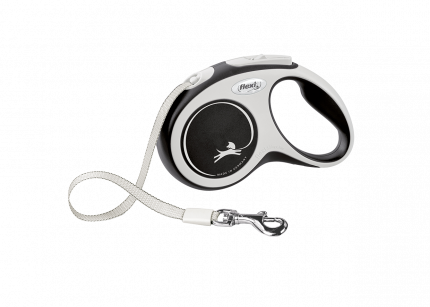 Поводок-рулетка Flexi New Comfort tape S 5m 15kg black