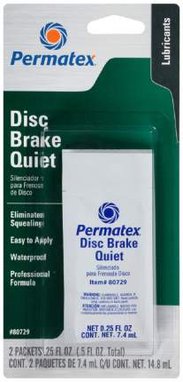Смазка для предотвращения шума дисковых тормозов 2пак по 7,4мл(14,8мл) Permatex арт. 80729