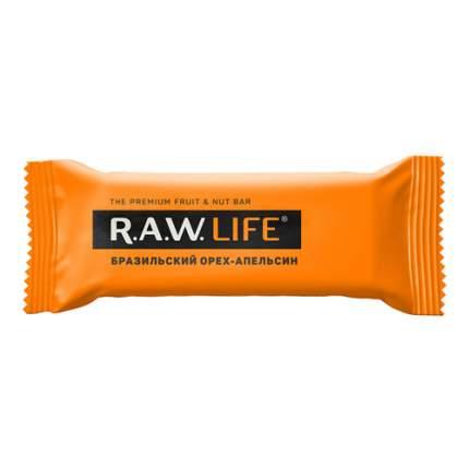 """Батончик орехово-фруктовый """"Бразильский орех-Апельсин"""" Raw Life 47 г"""
