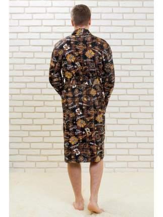 Мужской трикотажный халат Lika Dress 6599 коричневый, р.44