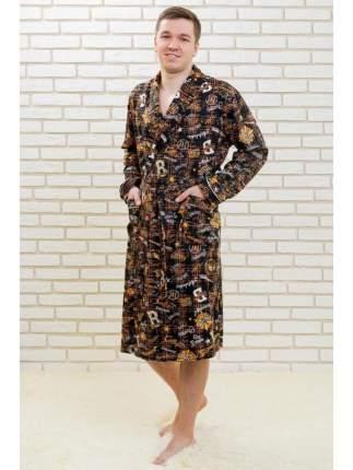 Мужской трикотажный халат Lika Dress 6599 коричневый, р.64