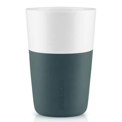 Чашки для латте 2 шт 360 мл бирюзово-синий