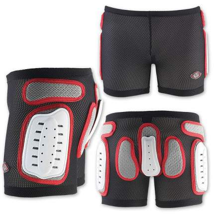 Защитные Шорты Nidecker 2020-21 Padded Plastic Shorts White/Red (Us:l)
