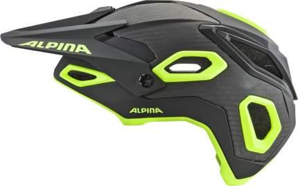 Велошлем Alpina Rootage Black/Neon Yellow, 52-57 см