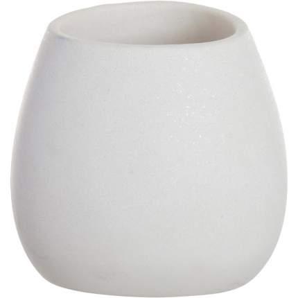 Стакан для зубных щеток Arena Stone белый, Dcasa