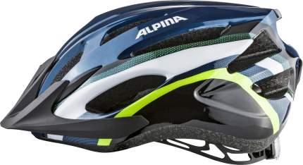 Велошлем Alpina 2020 Mtb 17 Darkblue-Neon, 58-61 см
