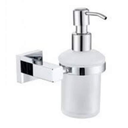 Дозатор жидкого мыла KAISER настенный (стекло) хром (латунь)