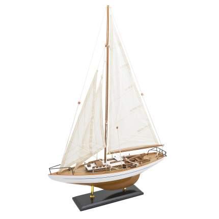 Модель парусной яхты 45х66 см, Дерево, Ткань