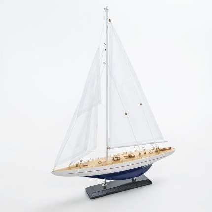 Модель парусной яхты 38х53 см, Дерево, Ткань