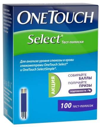 Тест-полоски для глюкометра Ван Тач Селект (OneTouch Select) №100 шт