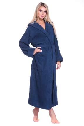 Махровый халат с капюшоном SPORT&Life (Е 901-1), цвет тёмно-синий, размер 50-52
