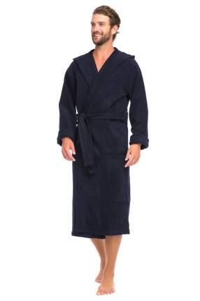 Мужской махровый халат с капюшоном SPORT&Life (Е 901-1), цвет тёмно-синий, размер 54-56