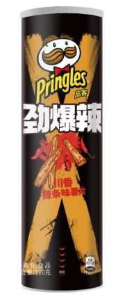 Чипсы Pringles Extra Hot с острым сычуаньским соусом 110 г