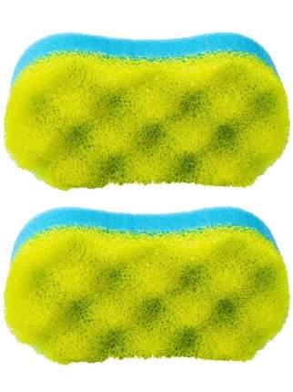 Мочалка для бани Радиус ГБ-03-2.гж Восьмерка голубо-желтая 2 шт.
