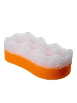 Мочалка для бани Радиус ГБ-03-2.об Восьмерка оранжево-белая 2 шт.