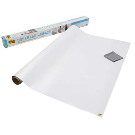 Маркерное покрытие 3M Post-it, 120 х 240 см, самоклеющееся, белое