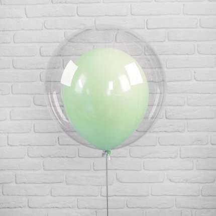 Шар полимерный 20 Шар в шаре, макарун, цвет зелёный, 2 шт.