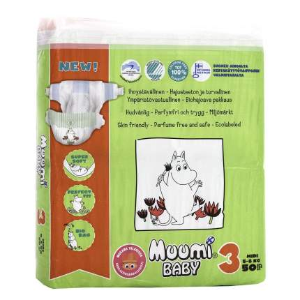 Подгузники Muumi Baby Midi (5-8 кг), 50 шт.