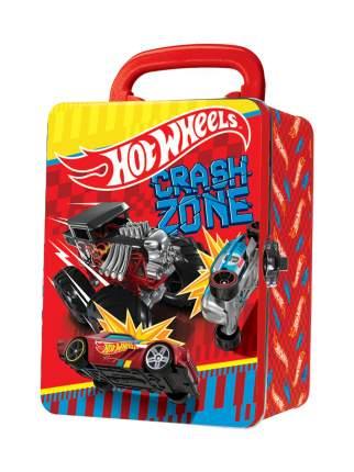 Портативный кейс для хранения 18 машинок Hot Wheels светло-красный